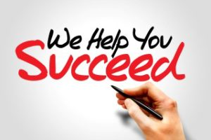 Hand writing We Help You Succeed, business concept